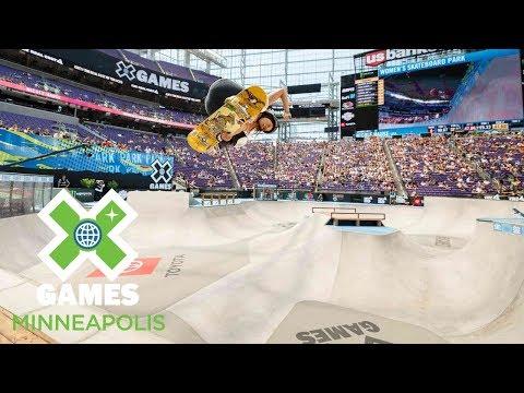 Women's Skateboard Park: FULL BROADCAST   X Games Minneapolis 2018