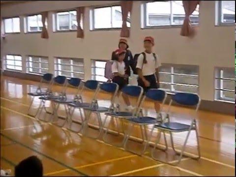 節田小学校不審者対応避難訓練(2015.4.11)