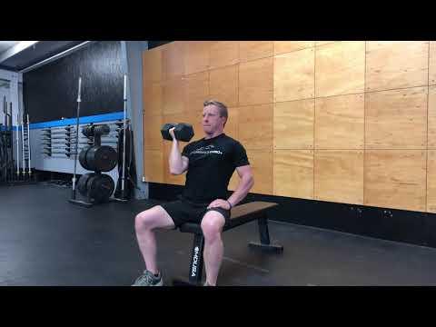 Seated Single-Arm Arnold Press