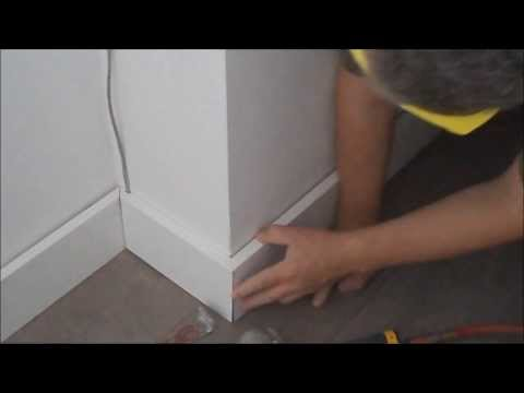 How to Install Baseboards to Laminate or Hardwood Flooring DIY Mryoucandoityourself