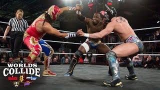 Ligero vs. Gran Metalik vs. Albert Hardie Jr.: WWE Worlds Collide, April 17, 2019