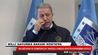 Hulusi Akar ve TSK'nın komuta kademesi Konya'yı ziyaret etti