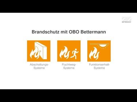Brandschutz - Lösungen für alle Schutzziele von OBO Bettermann