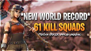 FORTNITE KILLS WORLD RECORD BROKEN 61 KILLS!!!!!!!!!!!!!!!