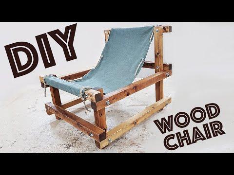 WOOD CHAIR как сделать мебель ДЛЯ ДАЧИ своими руками DIY