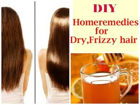Video DIY homeremedies for Dry,Frizzy hair- DIY Honey Rinse for damaged hair.