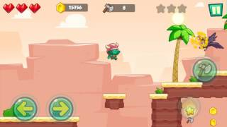 Jungle Adventures: Super World - Sahara Level 7... Gameplay (Free Game On Android)