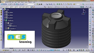 CATIA V5/V6 tutorial | Plastic Water Tank