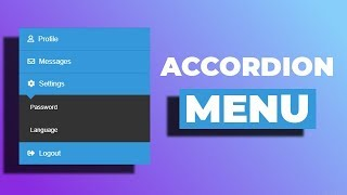 Awesome accordion menu using only HTML & CSS