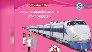 Use Cheap and Best Train Ambulance Service in Patna by Sky