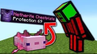 Minecraft, But Axolotls Drop OP Items...
