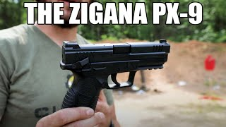 "SDS Imports - Zigana PX-9 Semi-Automatic Pistol 9mm (2) 15rd Mags 4.5"" Barrel - Includes Hard Case, Holster and Loader"