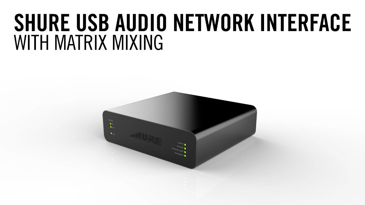 Shure ANIUSB-Matrix: USB Audio Network Interface