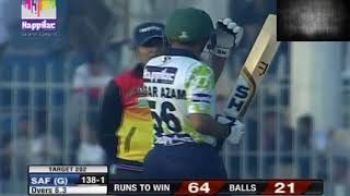 BABAR AZAM HUNDRED ON 26 BALLS IN T10 CRICKET MATCH SAF