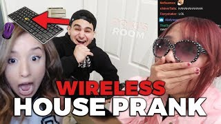 WIRELESS KEYBOARD HOUSE PRANK ft. Pokimane & LilyPichu