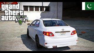GTA 5 Pakistan - GTA V Real life Mod Logitech G29 Steering Wheel Drive of 'Toyota Corolla 2010 XEI'