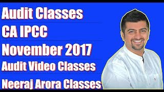 Audit Classes | Audit Video Classes | CA IPCC November 2017 | Examination in Dept