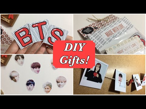 DIY 3 Simple Gift Ideas! (Polaroid, Stickers, Magnets) BTS Edition