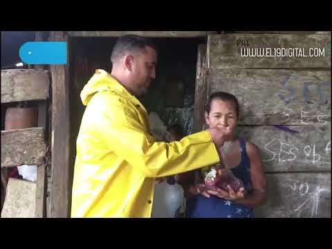 Familias afectadas por las lluvias reciben cariño y acompañamiento solidario del Gobierno Sandinista