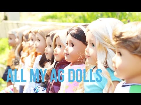 All My American Girl Dolls (As Of March 2015)