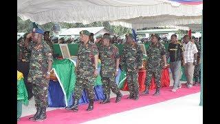 Majonzi na Vilio Kuagwa kwa Miili ya Askari 14 wa JWTZ Waliouawa, DRC