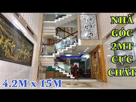( 13 )Bán Nhà Gò Vấp  4.2 x 15m Góc 2MT 4 lầu rất đẹp sát Công Viên Nguyễn Oanh Gò Vấp