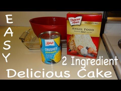 Video Easy! 2 Ingredient Pineapple Cake