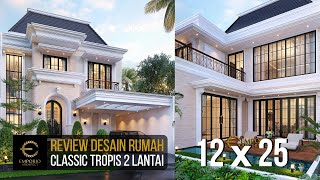 Video Desain Rumah Klasik 2 Lantai Ibu Inne di  Jakarta