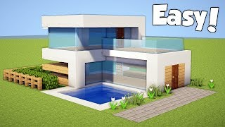 Minecraft: How to Build a Small & Easy Modern House - Tutorial (#20)