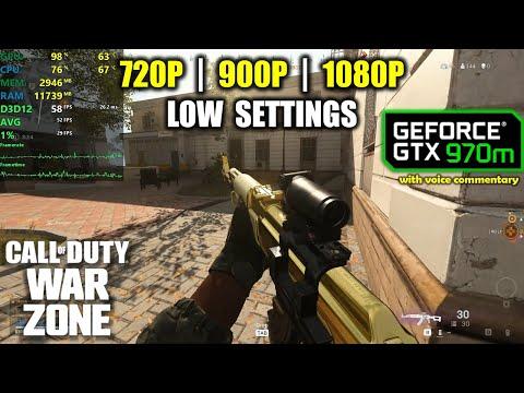 GTX 970M | Call of Duty: Warzone - Battle Royale - 1080p, 900p, 720p