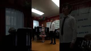 2019.05.28 КОТЕНОК.Экзамен по вокалу ансамбль ( Максим и Даша)