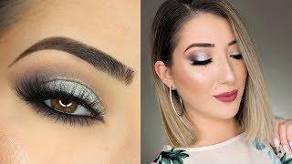 Black And Silver Smokey Eye Makeup Tutorial | Huda Beauty Smokey Obsessions