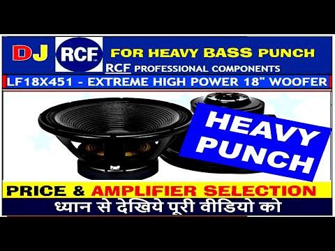 Rcf 18 inch with 2000 watts peak output - смотреть онлайн на