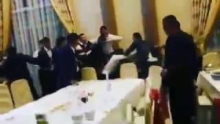 Жесткая драка на свадьбе.