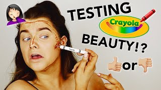TESTING CRAYOLA MAKEUP! USING CRAYONS ON MY FACE.. WTF?! | Rachel Leary
