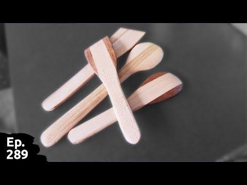des spatules en bois pour la cuisine à partir de chutes de bois - Ep289