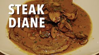 Steak Diane Recipe with Mushroom Sauce - Gregcipes