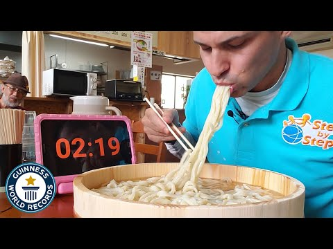How Much Udon Noodles Can You Eat in 3 Minutes?