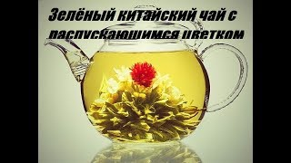 Зеленый китайский чай с распускающимся цветком (очень красиво)!!!