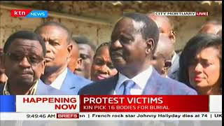 NASA leader Raila Odinga's full address to the families of fallen supporters at City Mortuary