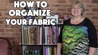 How To Organize Your Quilting Fabrics (Tutorial)