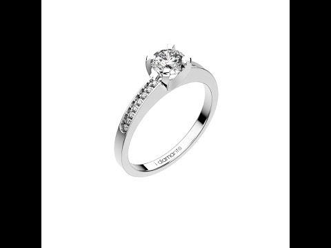 solitaire diamant pavé