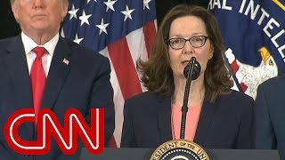 Gina Haspel sworn-in as first female CIA director - Video Youtube