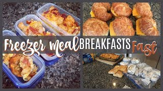 MAKE FREEZER MEALS WITH ME   3 BREAKFAST RECIPES