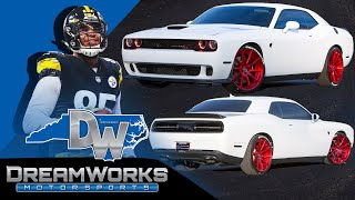 Eric Ebron Picks Up Dodge HellCat With 800 HP From Dreamworks Motorsports