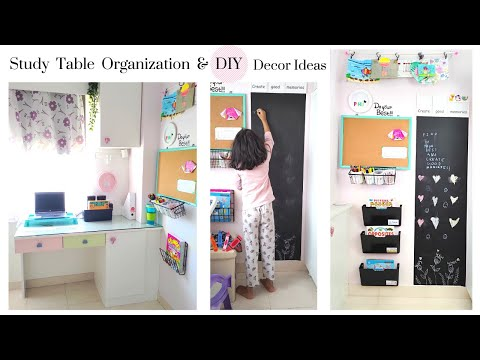 Tips on How To Organize Study Table (set-up for online classes) & Many Amazing DIY Wall Decor Ideas