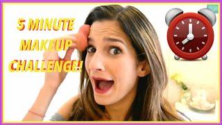 5 MINUTE MAKEUP CHALLENGE! | Jaclyn Yasmin