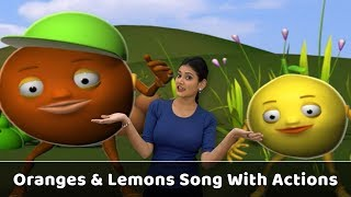 Oranges and Lemons Song With Actions | Fruit Rhymes For Babies | Learn Fruits Kids | Toddlers Songs