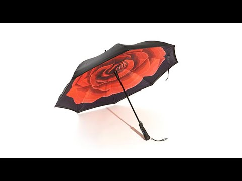 BetterBrella Auto Open Reverse Umbrella with Lit Handle