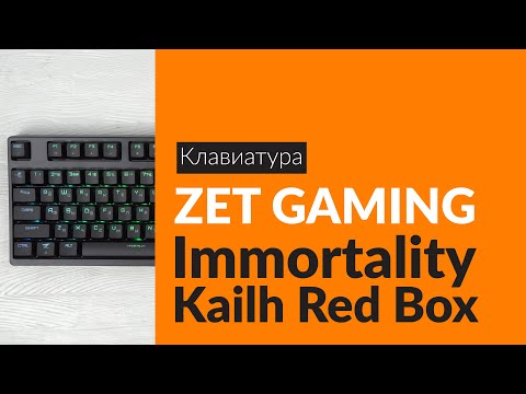 Распаковка клавиатуры ZET GAMING Immortality Kailh Red Box / Unboxing ZET GAMING Immortality Kailh